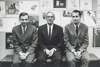 Fred Papert, Julian Koenig and George Lois, 1962