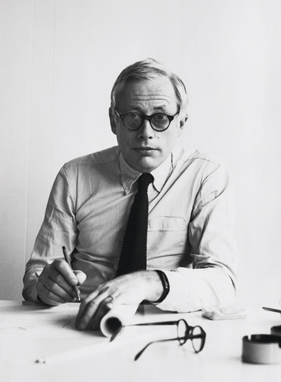 Dieter Rams in 1975, from our book As Little Design as Possible
