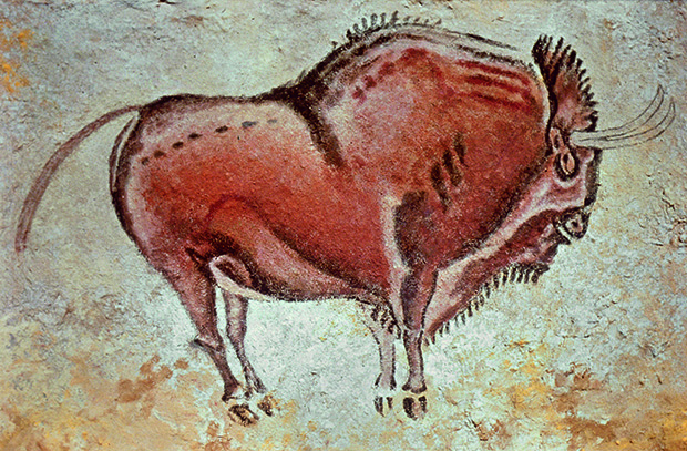 Altamira Bison, artist unknown, pigments on limestone, Spain, c.15000 BC. From 30,000 Years of Art