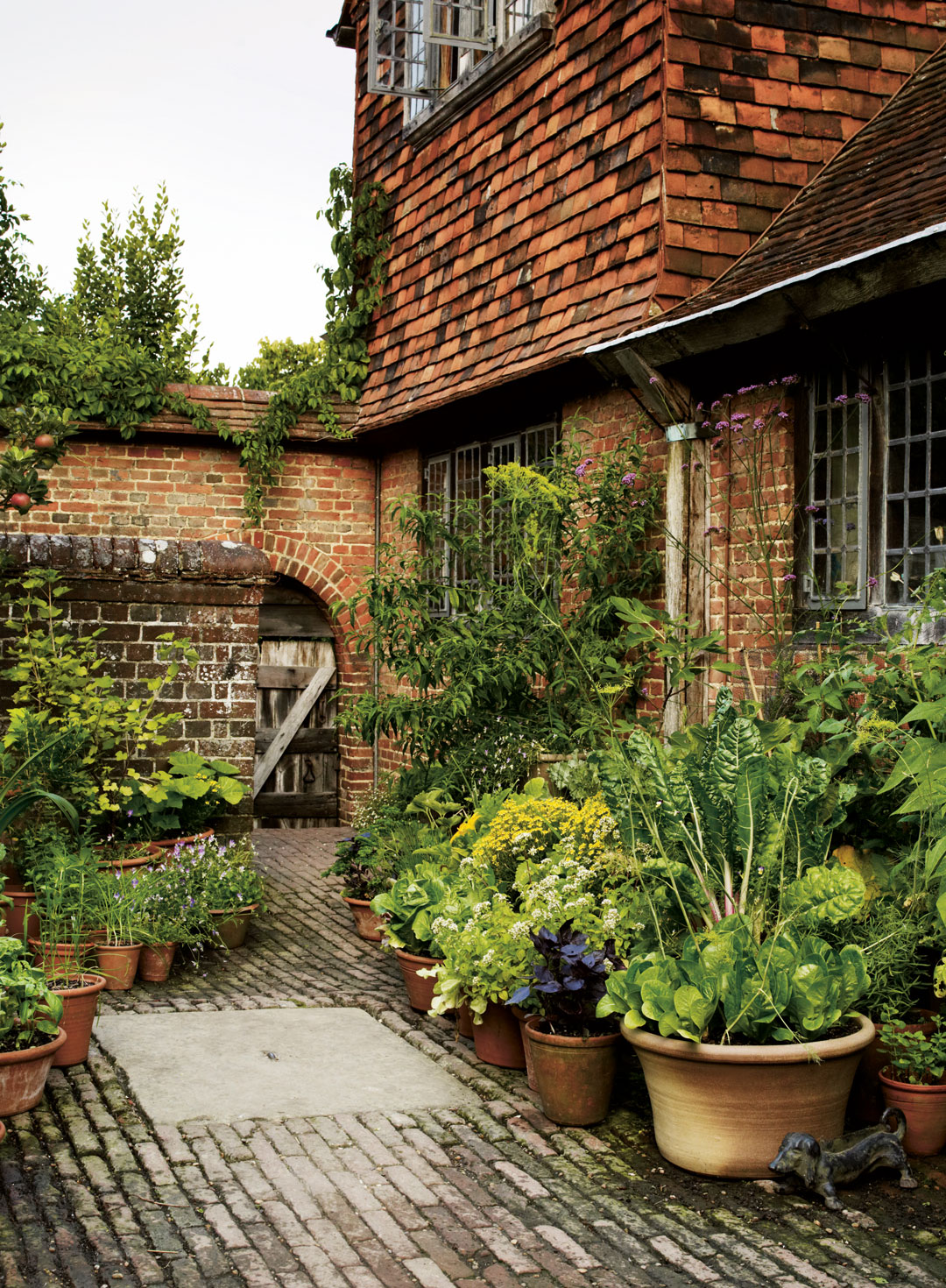 The kitchen courtyard at Great Dixter
