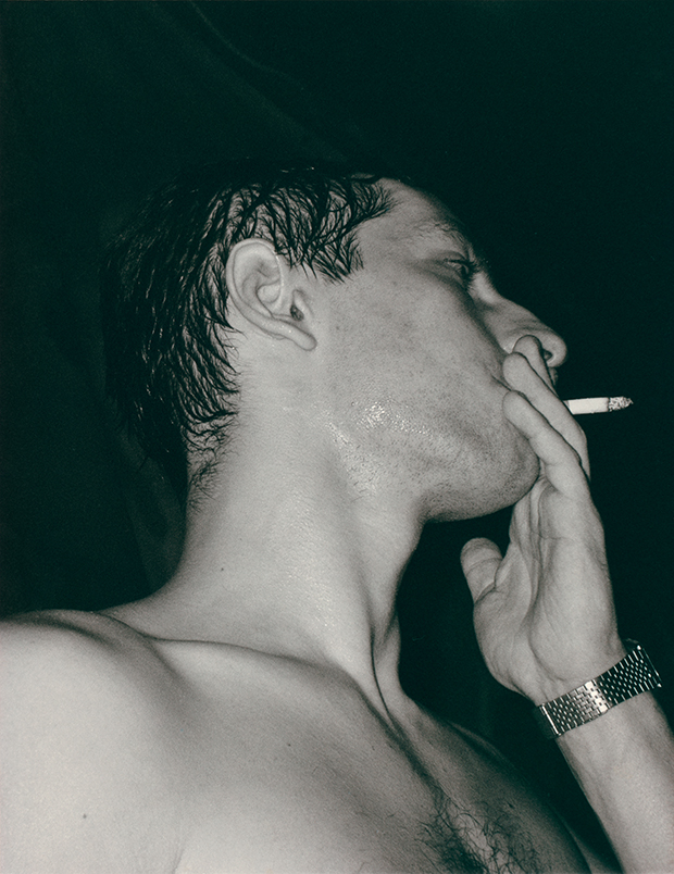 Smoker (1992) from Chemistry Squares by Wolfgang Tillmans