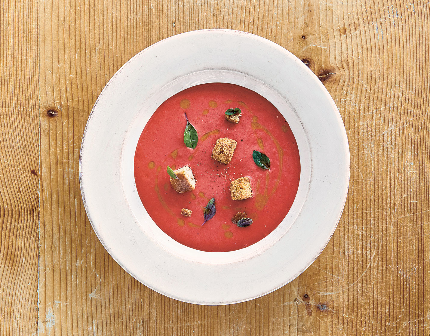 Daniel Humm's strawberry gazpacho, as featured in Bread is Gold