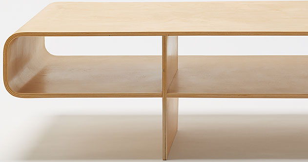 A more detailed view of The Loop Table, 1996 by Barber Osgerby for Isokon Plus