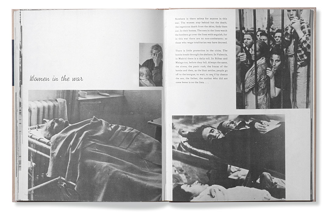 A spread from Death in the Making, by Robert Capa, published by Covici-Friede, New York, 1938. As featured in Magnum Photobook: The Catalogue Raisonné