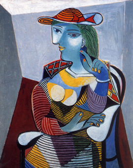 Picasso, <em>Seated Woman (Portrait of Marie-Thérèse Walter)</em> (1937)