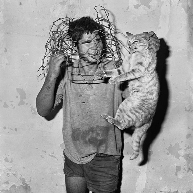 Cat Catcher, 1998 - Roger Ballen as featured in the book Outland