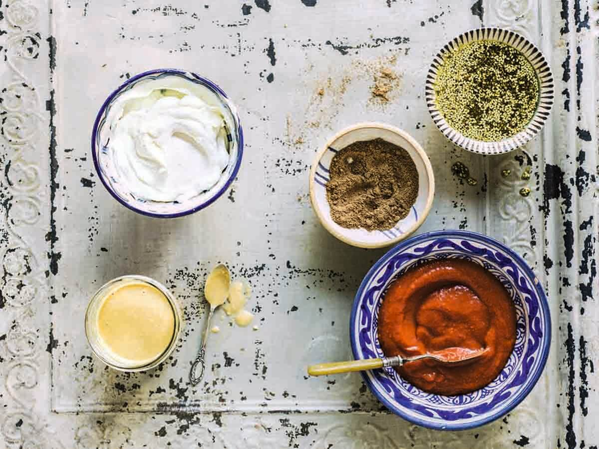 A selection of basic recipes from The Middle Eastern Vegetarian Cookbook