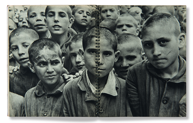 A spread from avid 'Chim' Seymour's Enfants d'Europe, 1949, as reproduced in Magnum Photobook: The Catalogue Raisonné