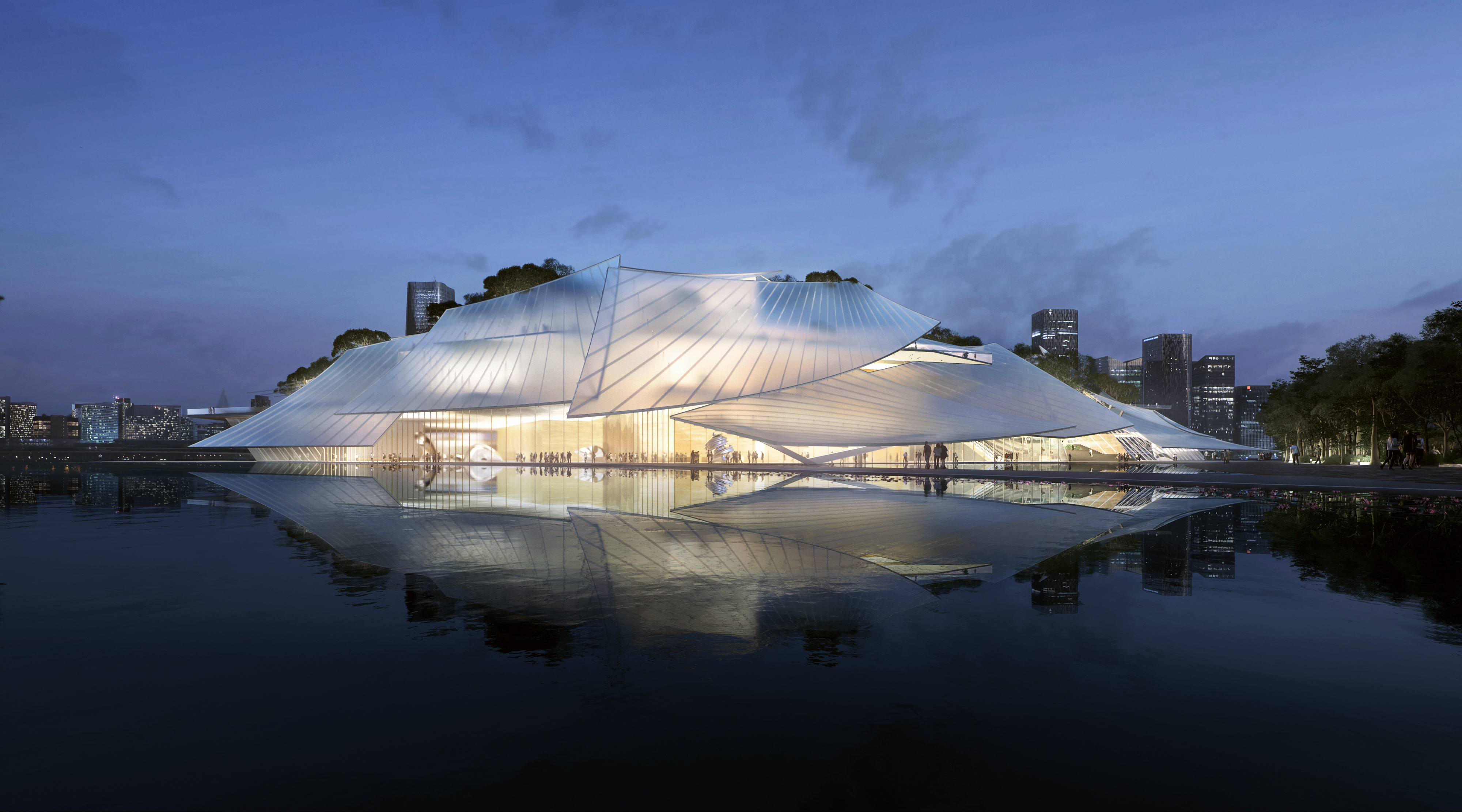 Rendering for Yiwu Grand Theatre, by MAD. All images courtesy of MAD