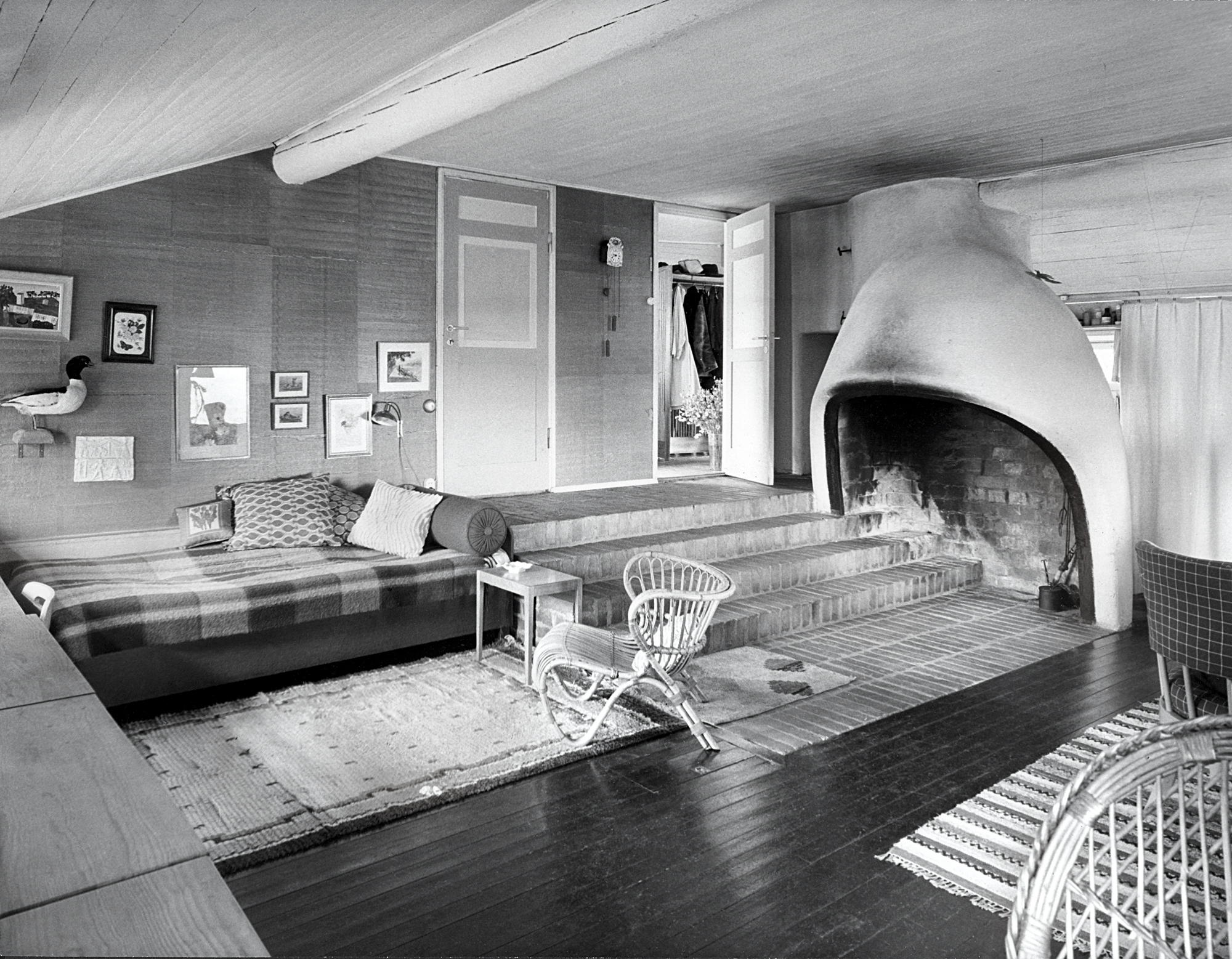 Gunnar Asplund's summer house, Stennas, Sorunda, Sweden. As featured in Interiors: The Greatest Rooms of the Century