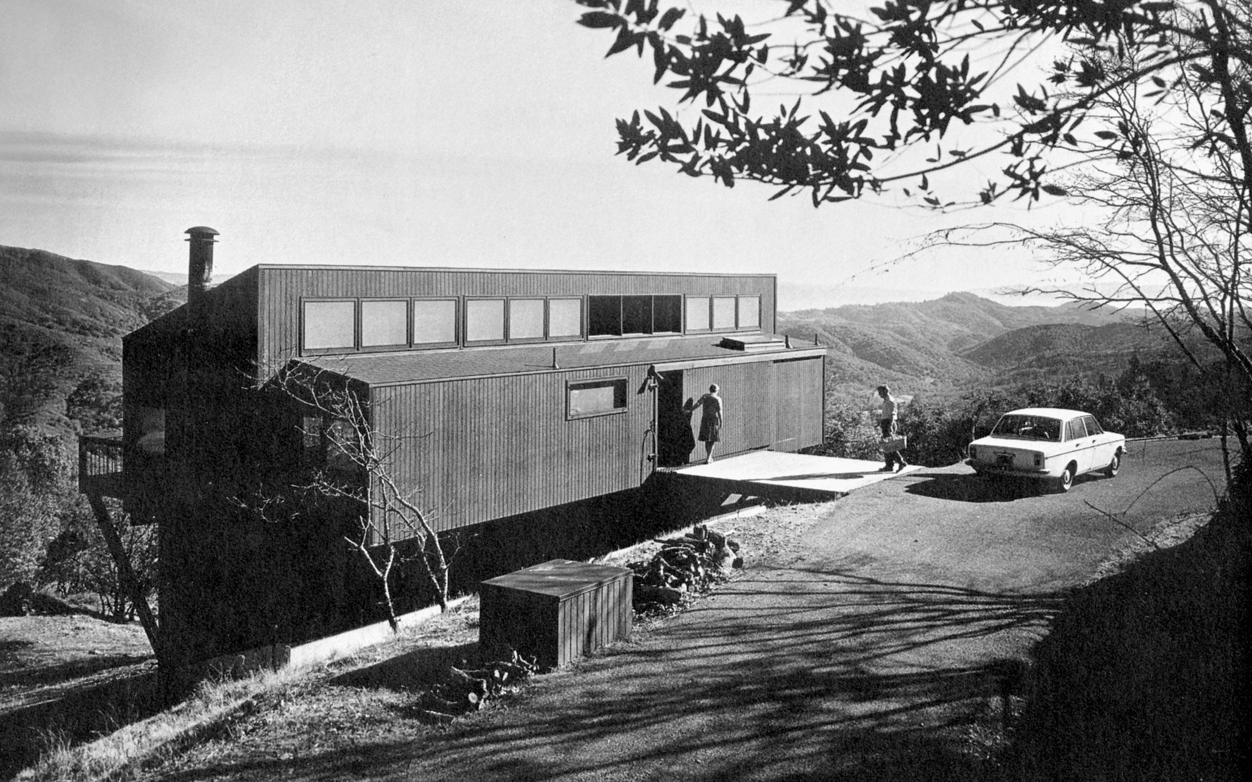 Schaefer House, Marquis & Stoller, Napa Hills, California, (US), 1969