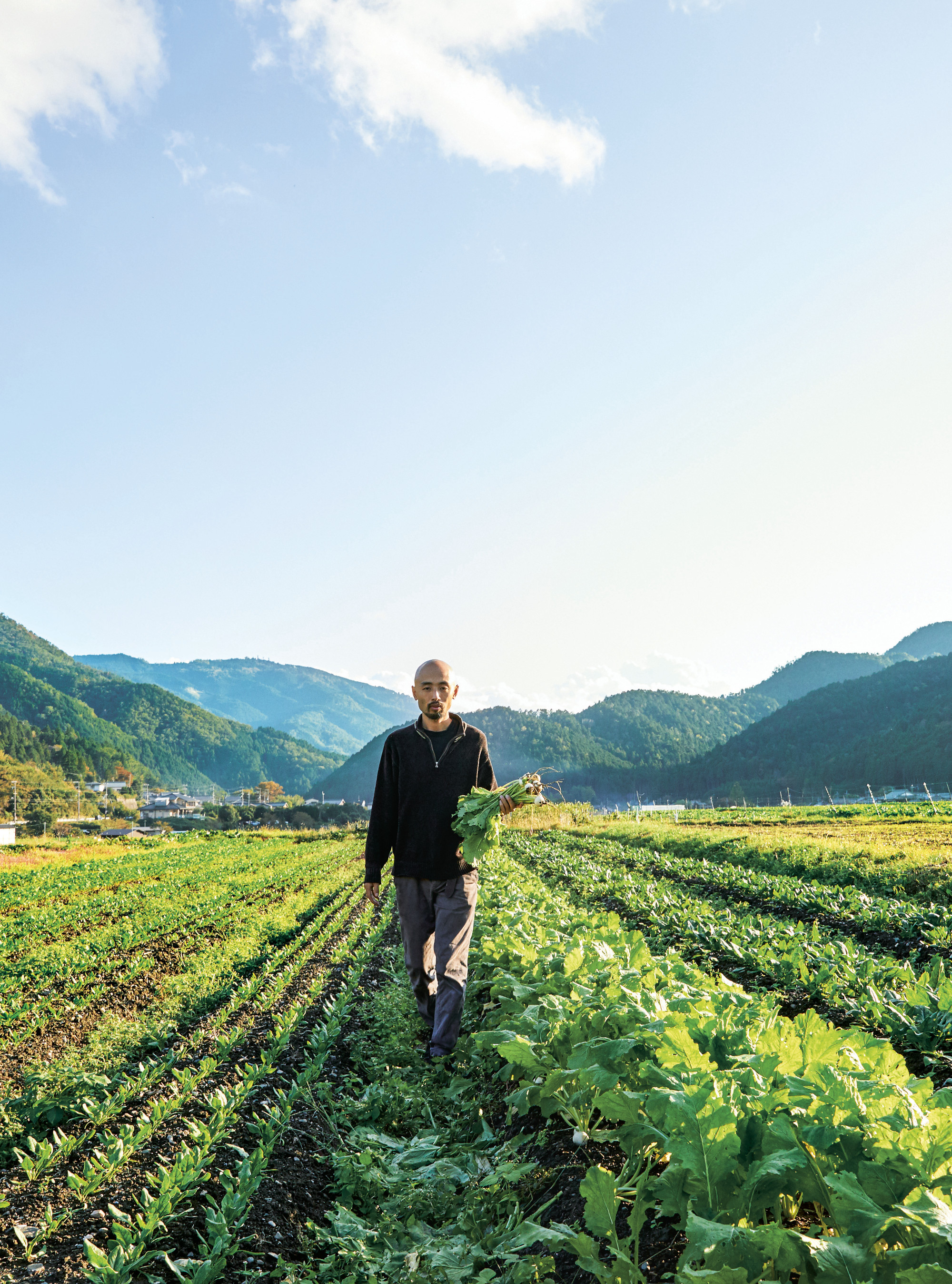 Yoshihiro Imai at a farm in Ohara valley. All photographs by by Yuka Yanazume