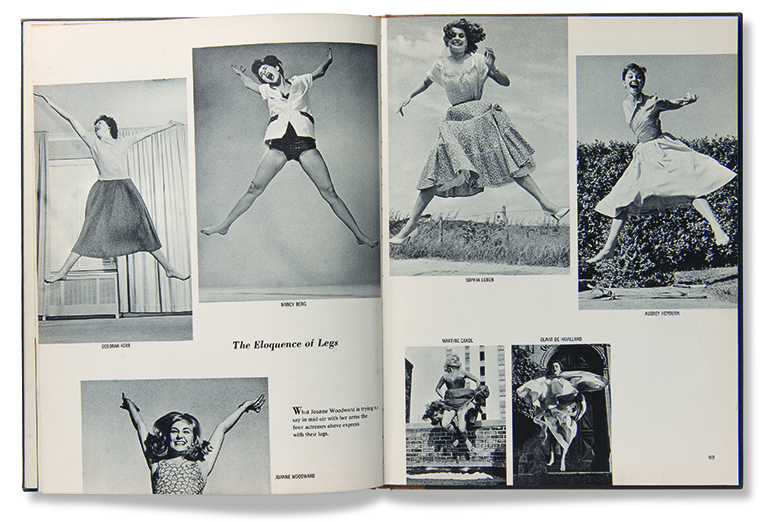 A spread from Philippe Halsman's Jump Book, as reproduced in Magnum Photobook: The Catalogue Raisonné