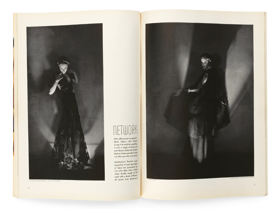 Hermann Landshoff's photographs from Vogue, January 1936, as reproduced in Issues