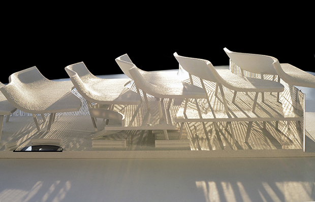 Steven Holl's model for the new Malawian library. Image courtesy of Stevenholl.com