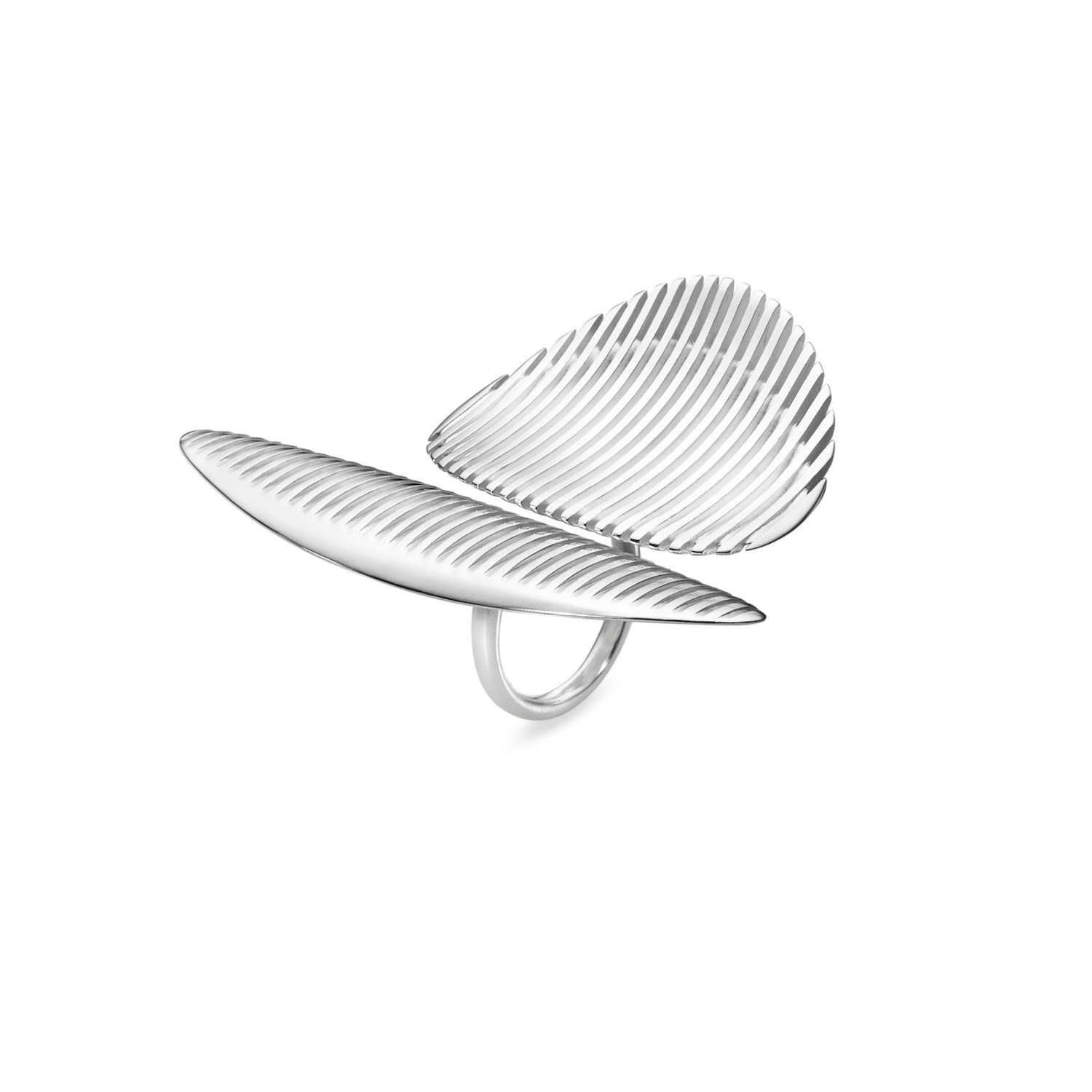 Zaha Hadid for Georg Jensen. Twin Ring 623D, 2015. Sterling silver.