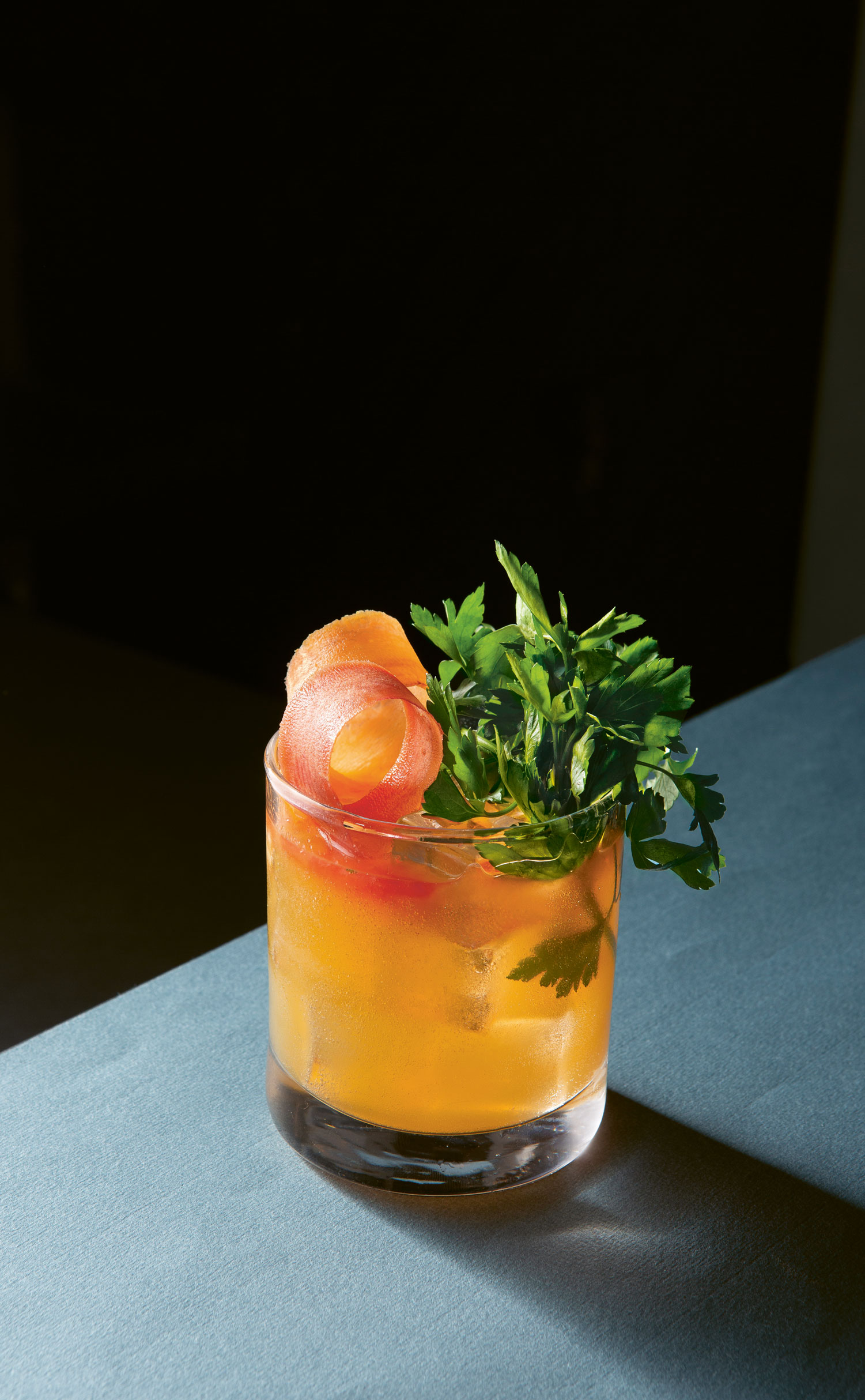 Carrot spritz. A non-alcoholic spritz from the Savannah outpost of The Fat Radish restaurant, which combines the sweet earthiness of fresh-from-the-ground carrots with spicy ginger. All photographs by Andy Sewell