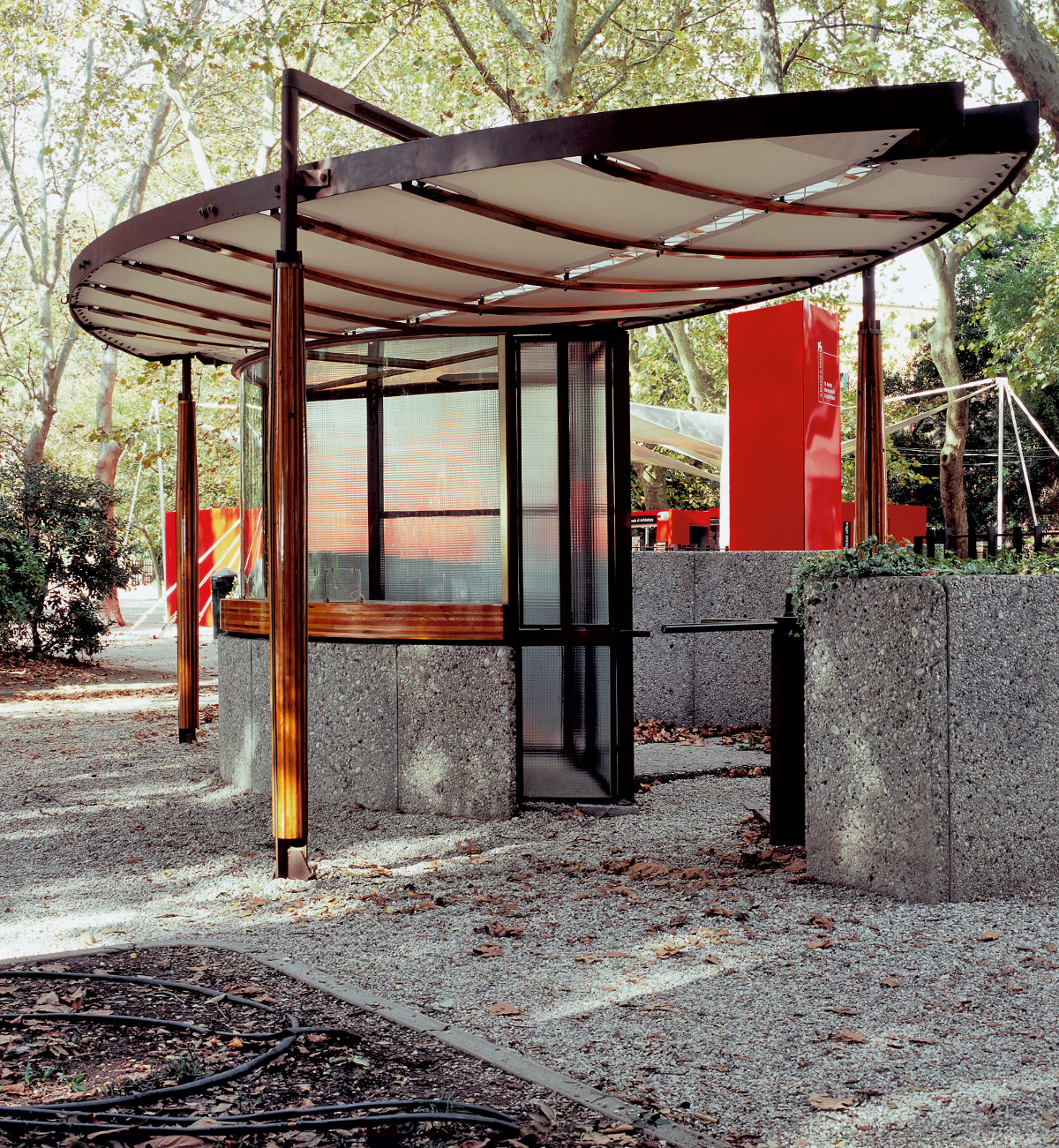 The Biennale ticket booth, Venice 1951-52