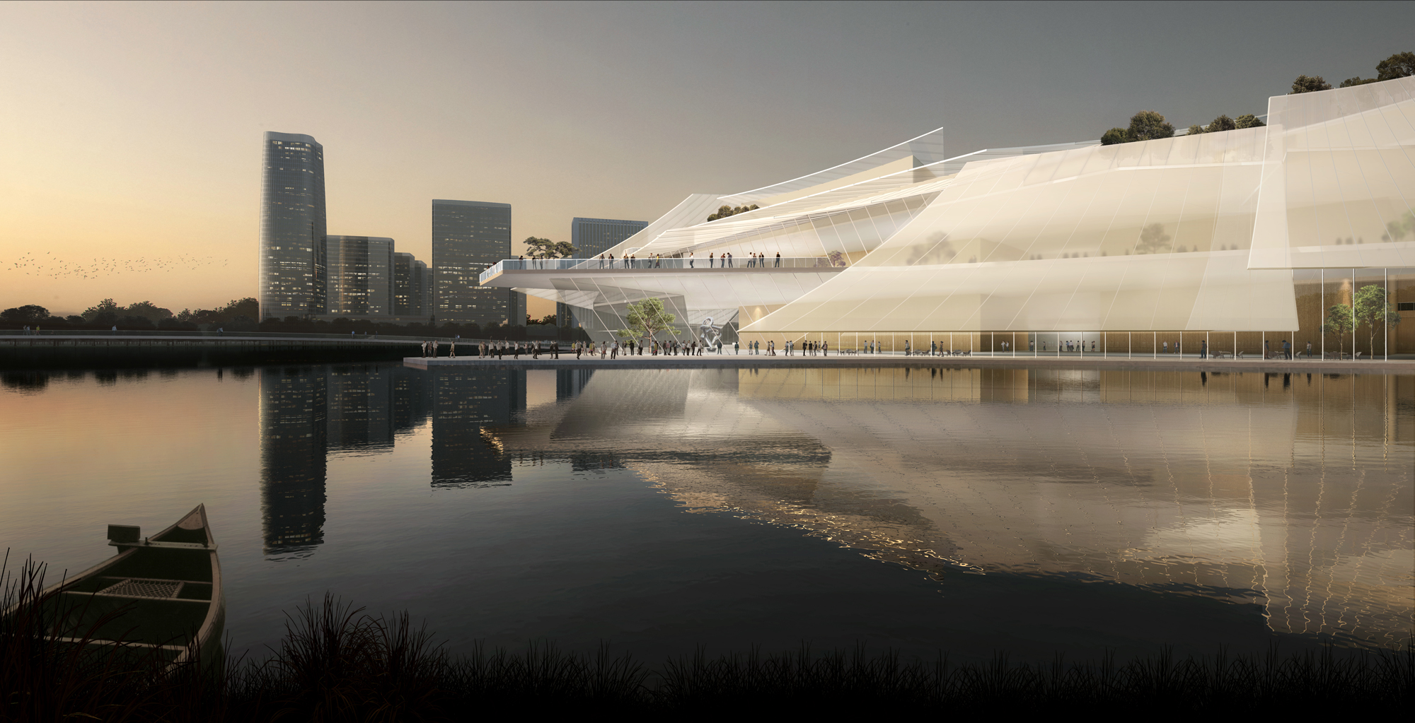 Rendering for Yiwu Grand Theatre, by MAD