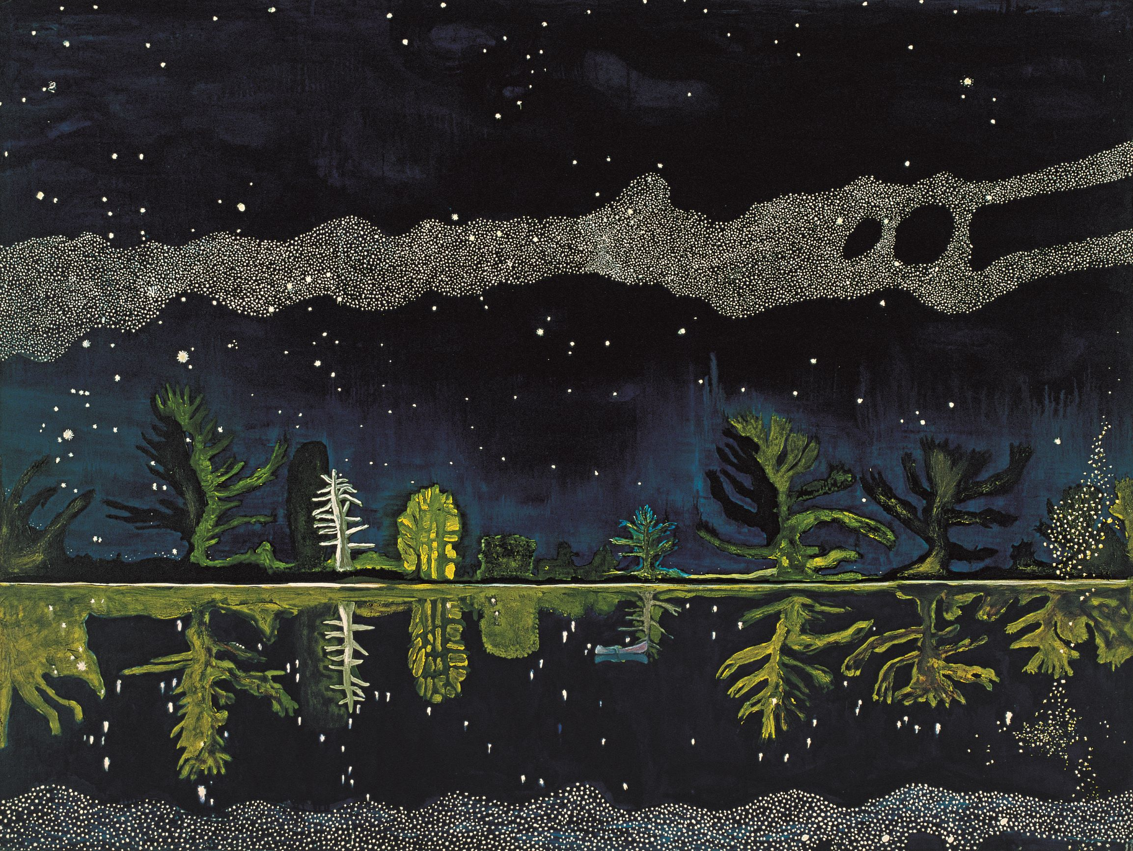 Milky Way (1989-90) by Peter Doig