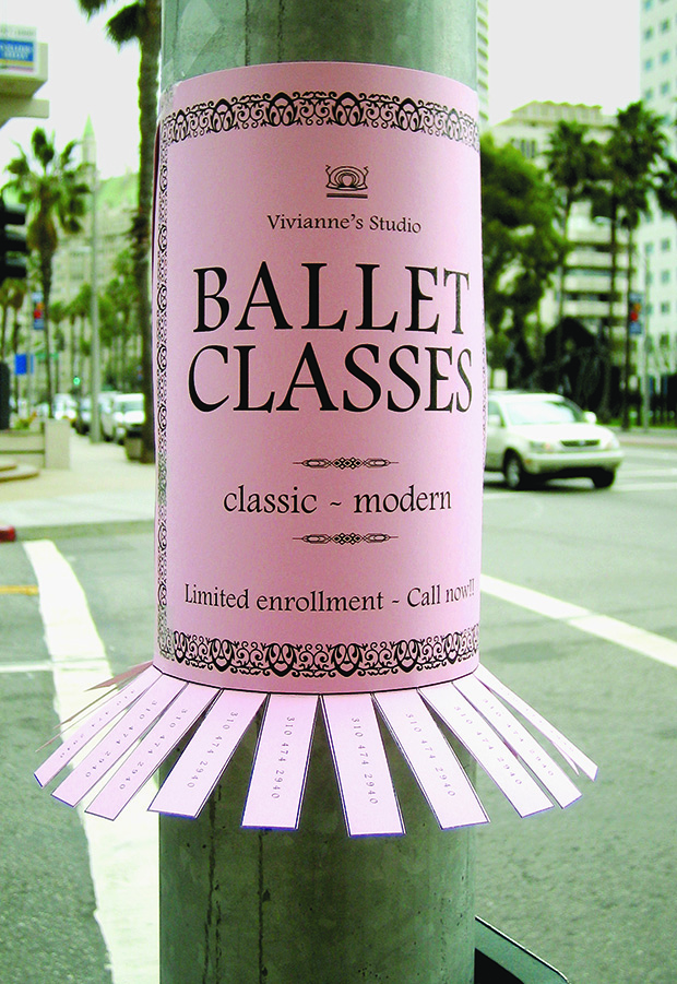 Ballet class poster. From A Smile in the Mind