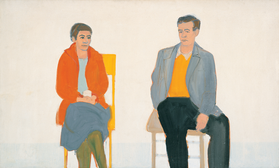 Alex Katz, Edith and Rudy (1957), from our Alex Katz monograph