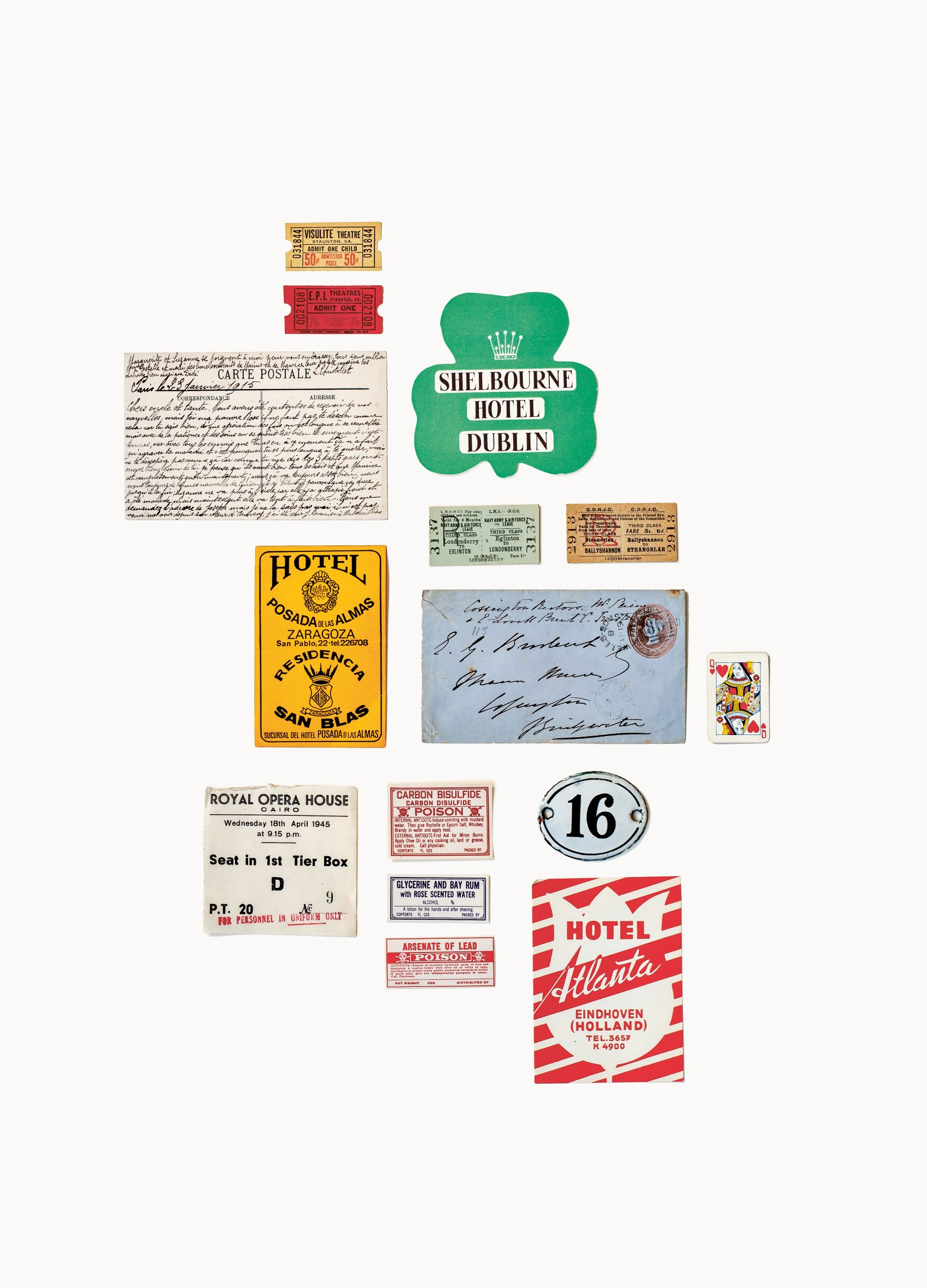 Printed Ephemera, various sizes, photograph by Flora Fricker, collection of Annie Atkins; references for vintage lettering design