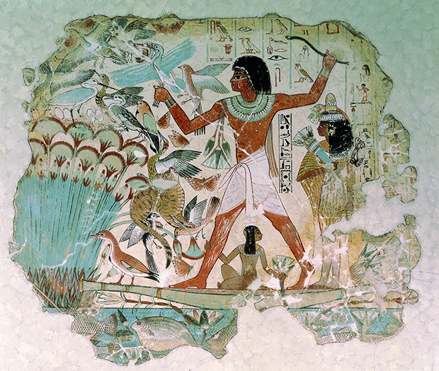 Hunting Fowl in the Marshes, artist unknown, artist unknown. From 30,000 Years of Art