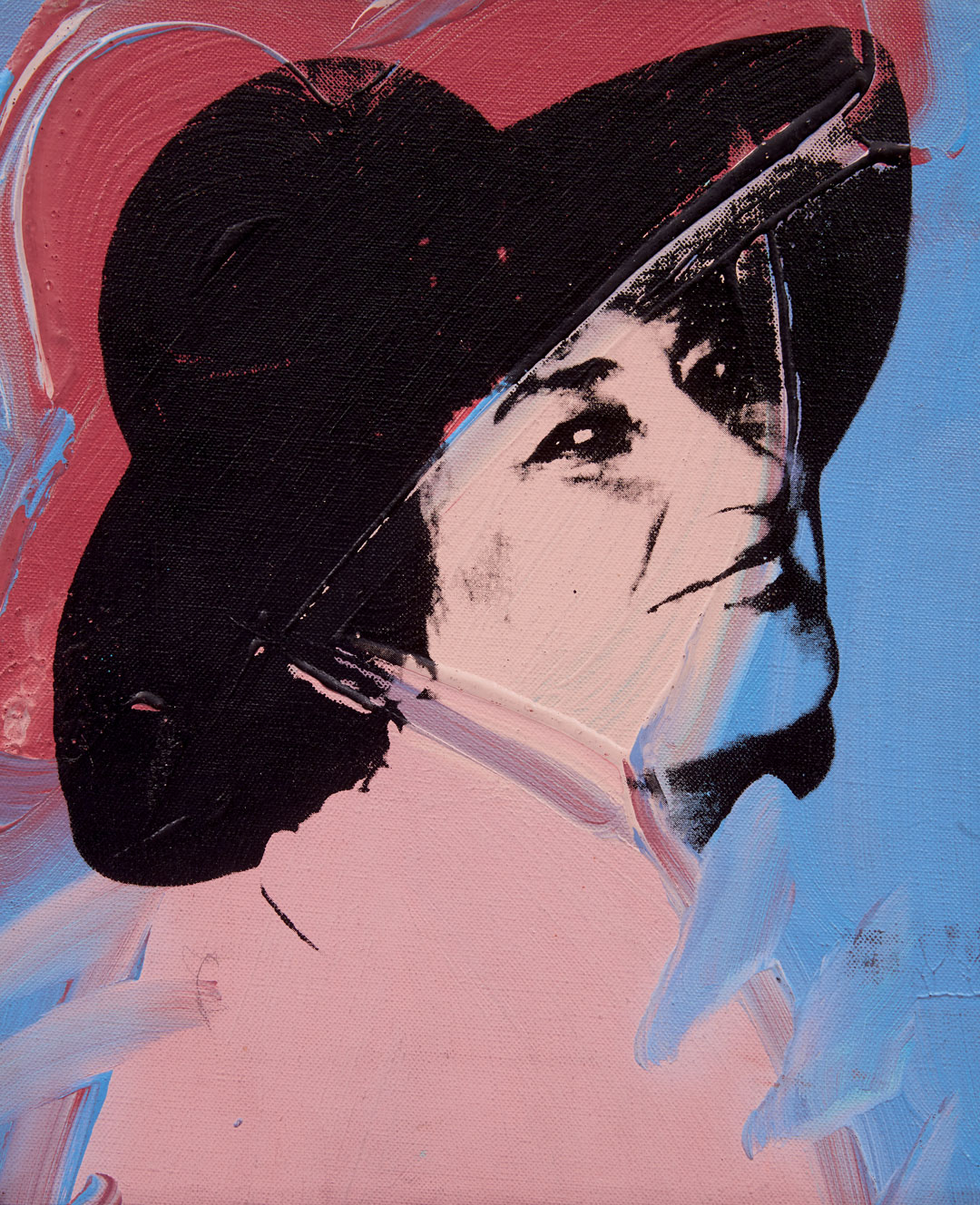 Andy Warhol, Bella Abzug, summer 1977, acrylic and silkscreen ink on linen, 12 x 10 inches, 30.5 x 25.4 cm. Picture credit: Private Collection © The Andy Warhol Foundation for the Visual Arts, Inc., NY Photo by Jordan Tinker
