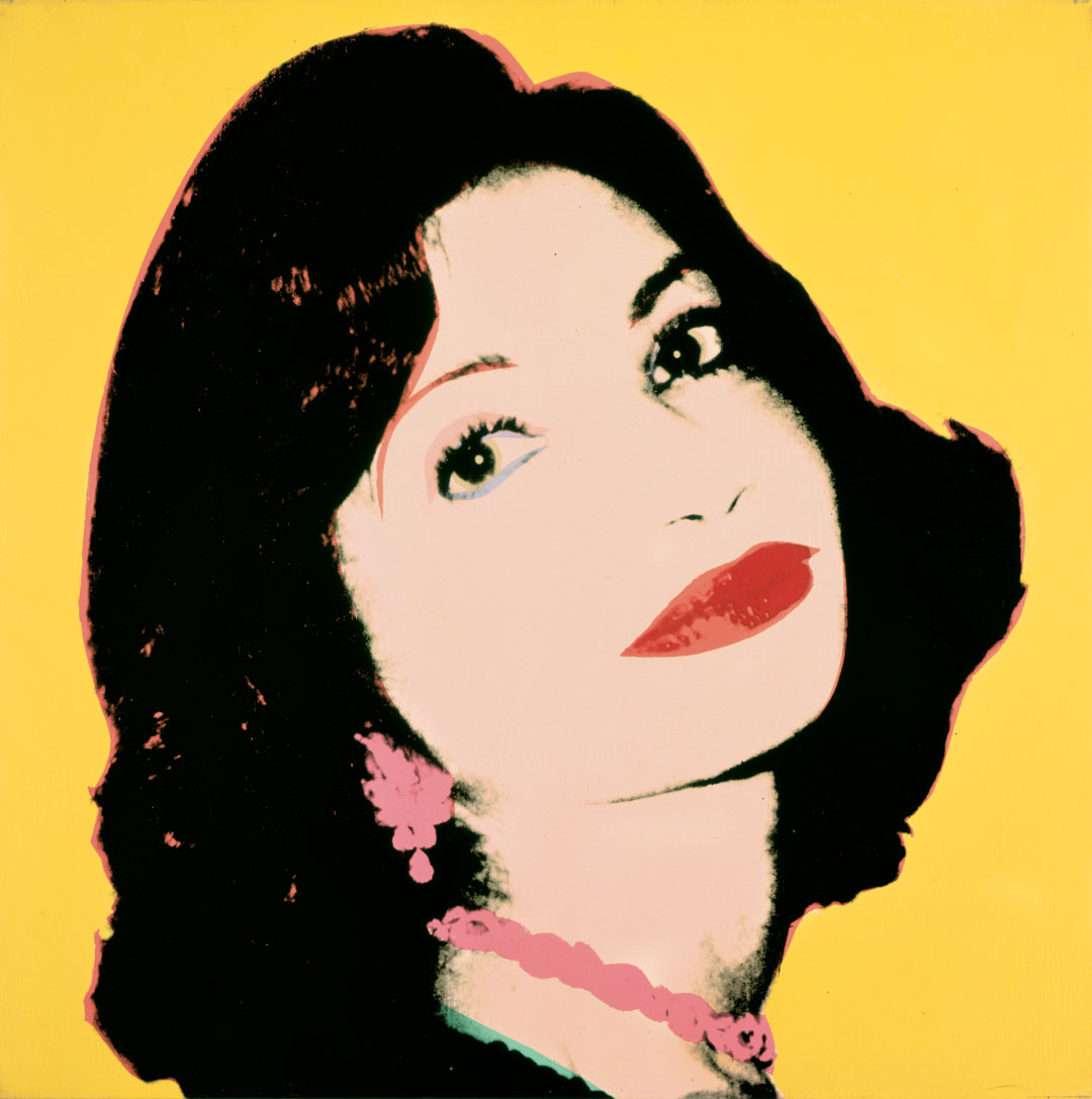 Andy Warhol, Ashraf Pahlavi, early 1978, acrylic and silkscreen ink on linen, 40 x 40 inches, 101.6 x 101.6 cm. Picture credit: Private Collection  © The Andy Warhol Foundation for the Visual Arts, Inc., NY, Photo by Phillips/Schwab