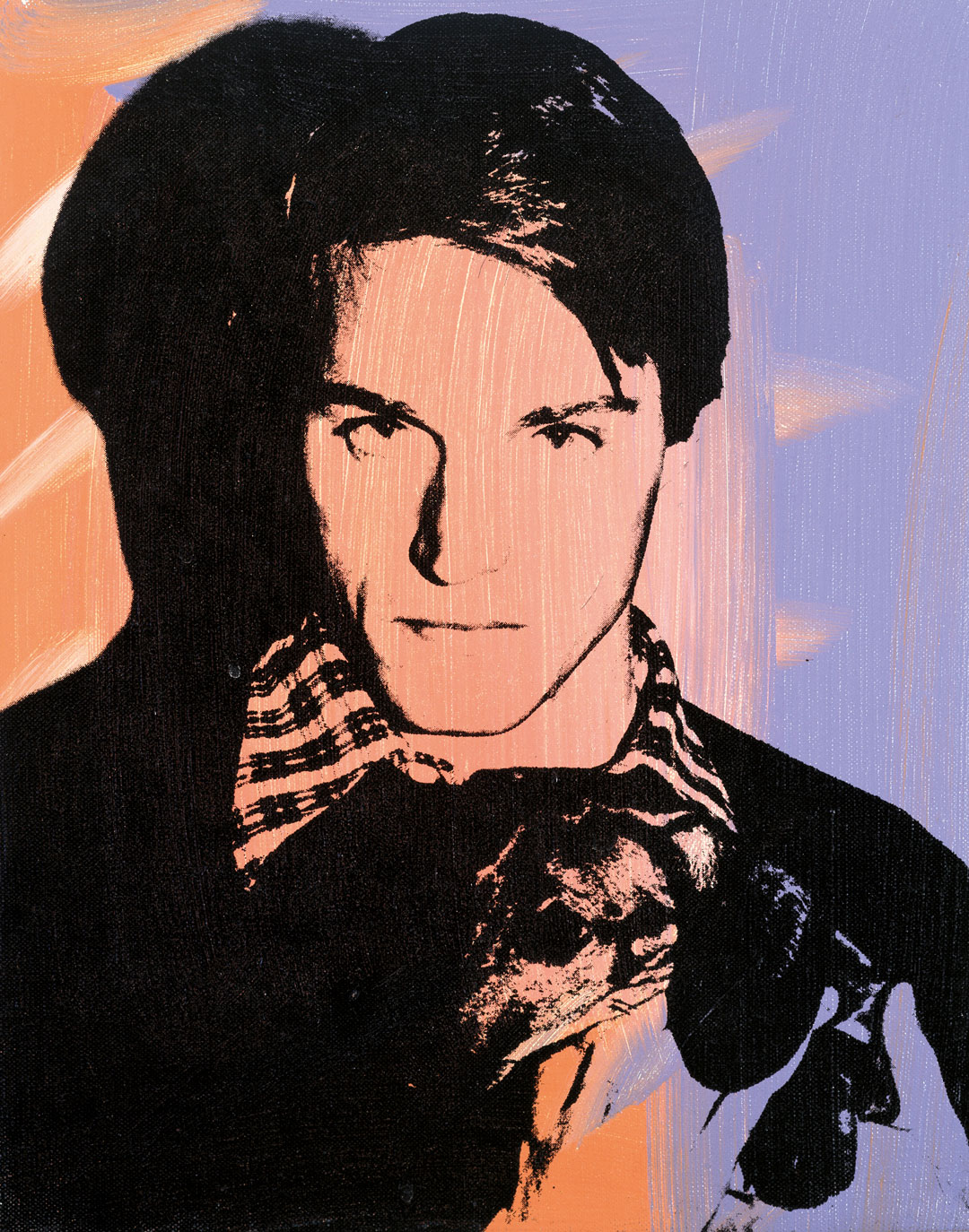 Andy Warhol, Jed Johnson, ca. 1978, acrylic and silkscreen ink on linen, 14 x 11 inches, 35.6 x 27.9 cm. Picture credit: The Andy Warhol Museum, Pittsburgh; Founding Collection, Contribution The Andy Warhol Foundation for the Visual Arts, Inc. © The Andy Warhol Foundation for the Visual Arts, Inc., NY, Photo by Kevin Ryan