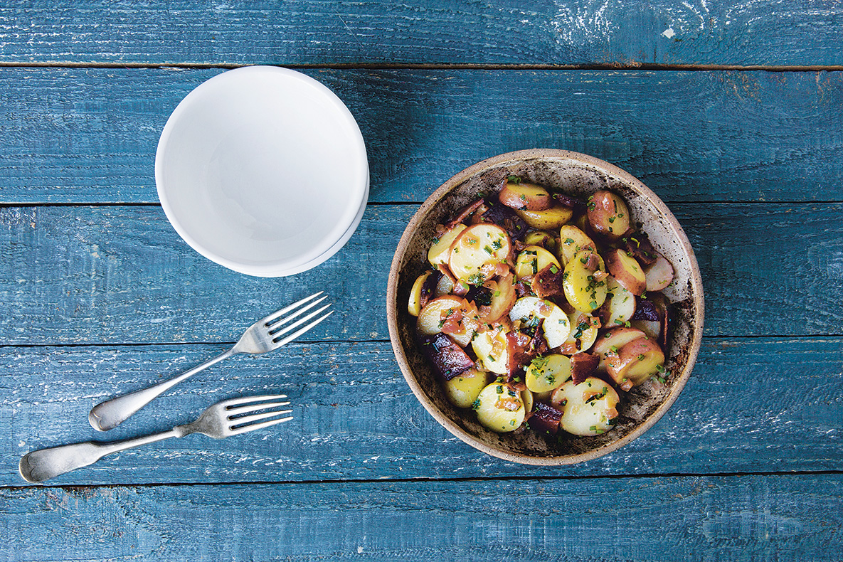 Hot German Potato Salad, as featured in America The Coobook