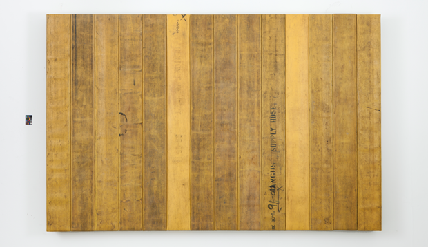 Back Where I Belong, 2012, wood, decommissioned fire hose, 183 x 274 x 13 cm. From Theaster Gates