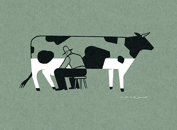Milking Cow. From A Smile in the Mind