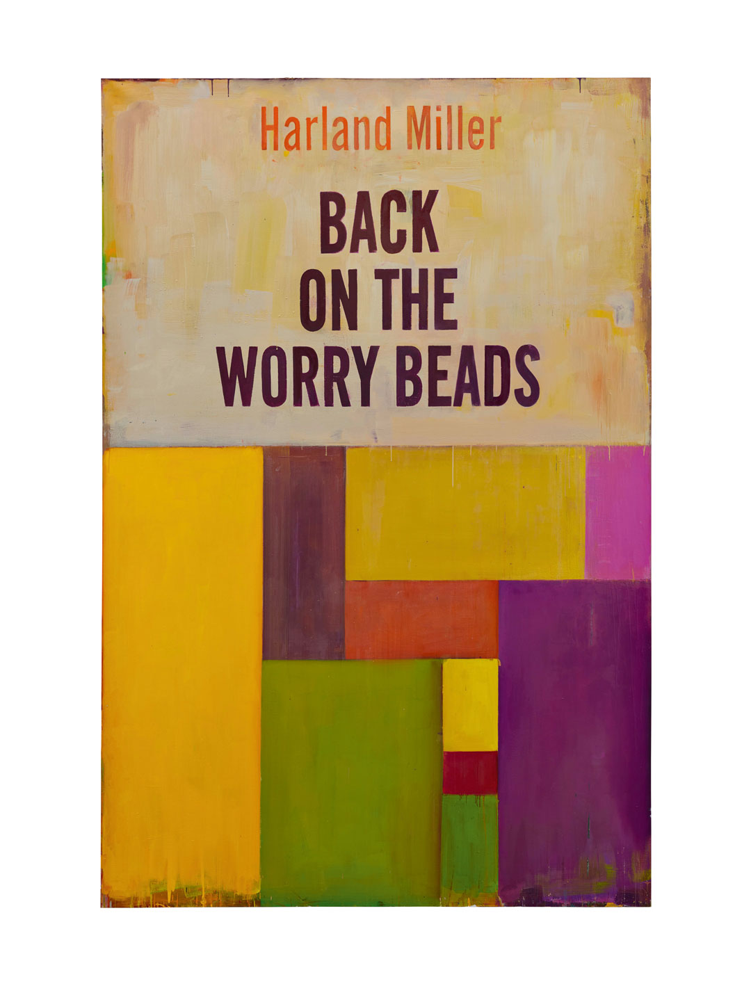 Back on the Worry Beads, 2016, oil on canvas, 276 × 183 cm (10811/16 × 72 1/16 in). © Harland Miller