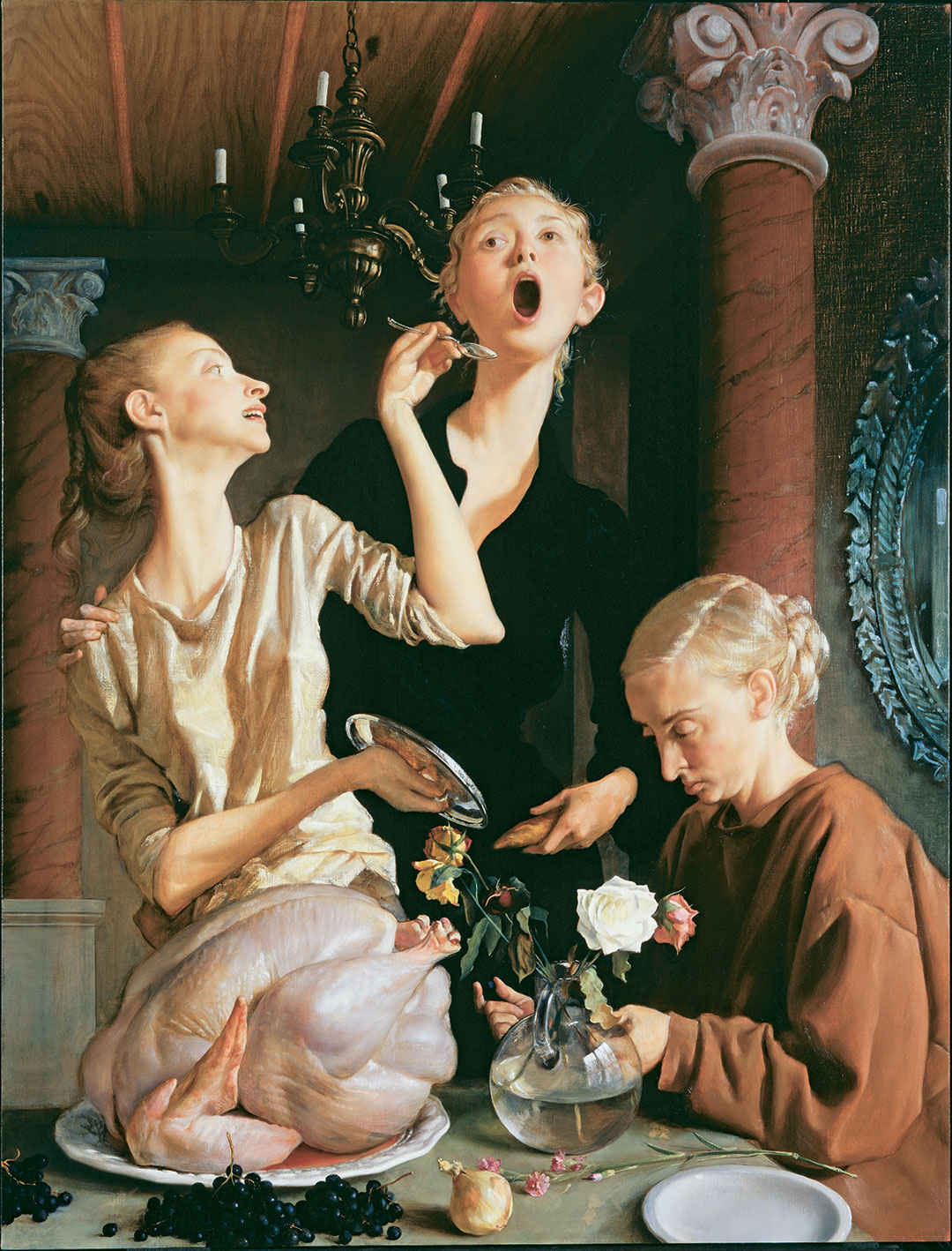 John Currin, Thanksgiving, 2003