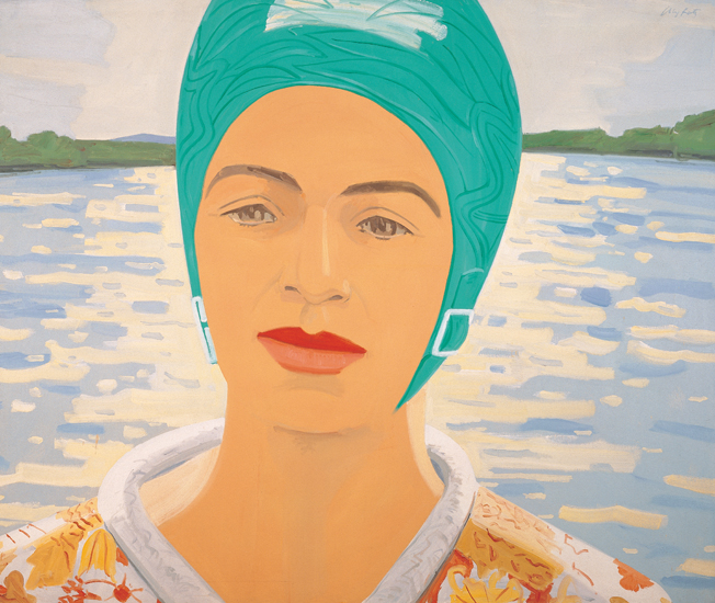 Ada with Bathing Cap (1982) by Alex Katz. From Alex Katz