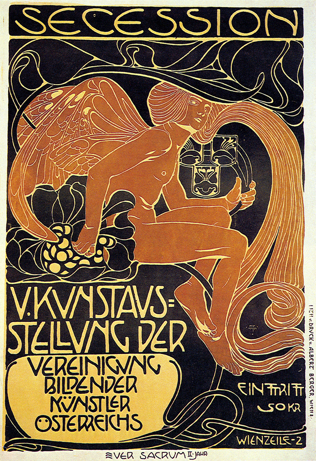 Koloman Moser, poster for the fifth Secession exhibition, 1899. From Art in Vienna