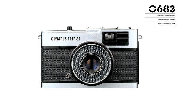 Olympus Trip 35 (1968) Yasuo Hattori Olympus 1968 - 1984 as featured in the Phaidon Design Classics app for Apple