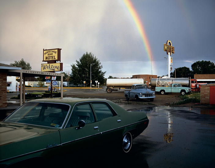 Stephen Shore, Horseshoe Bend Motel (16 July, 1973), Lovell, Wyoming, USA
