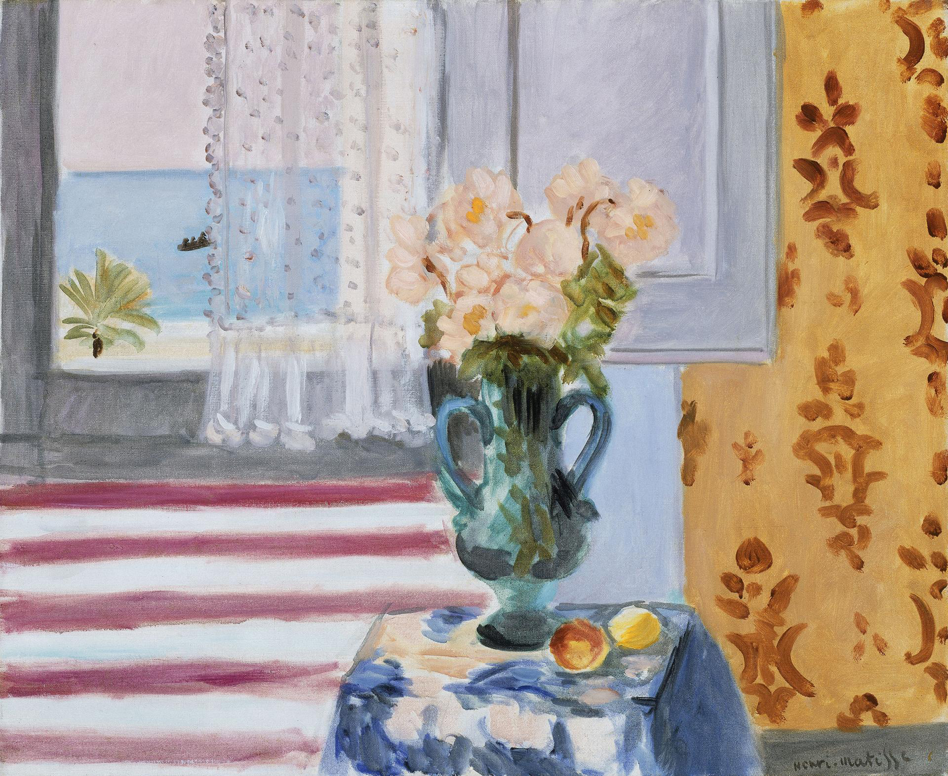 Vase of Flowers, 1924, by Henri Matisse. Museum of Fine Arts, Boston