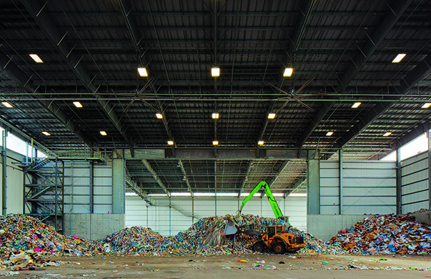 Sunset Park Material Recovery Facility, Brooklyn, NY, USA, 2013, Sims Municipal Recycling. Photo: Todd Eberle