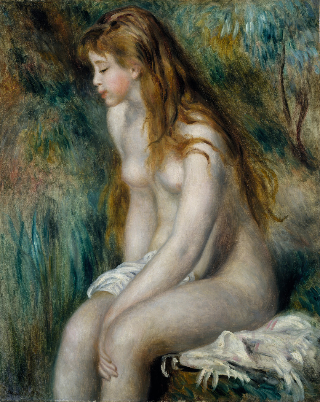 Pierre-Auguste Renoir, Young Girl Bathing, 1892, as reproduced in The Art of the Erotic