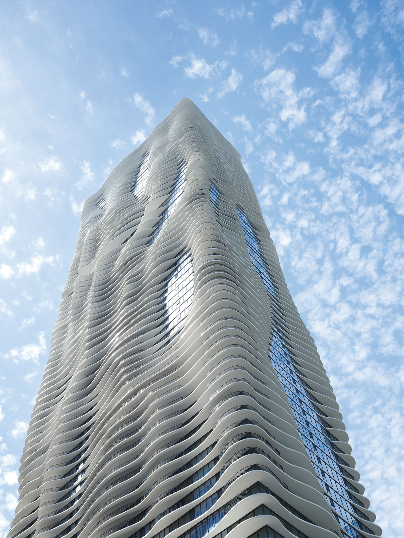 Studio Gang, Aqua Tower, Chicago, Illinois, USA, 2010. 