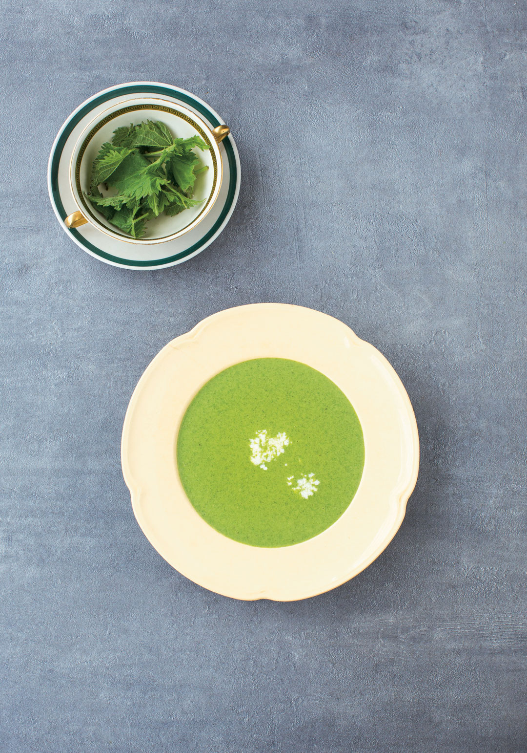 Nettle soup, from The Irish Cookbook