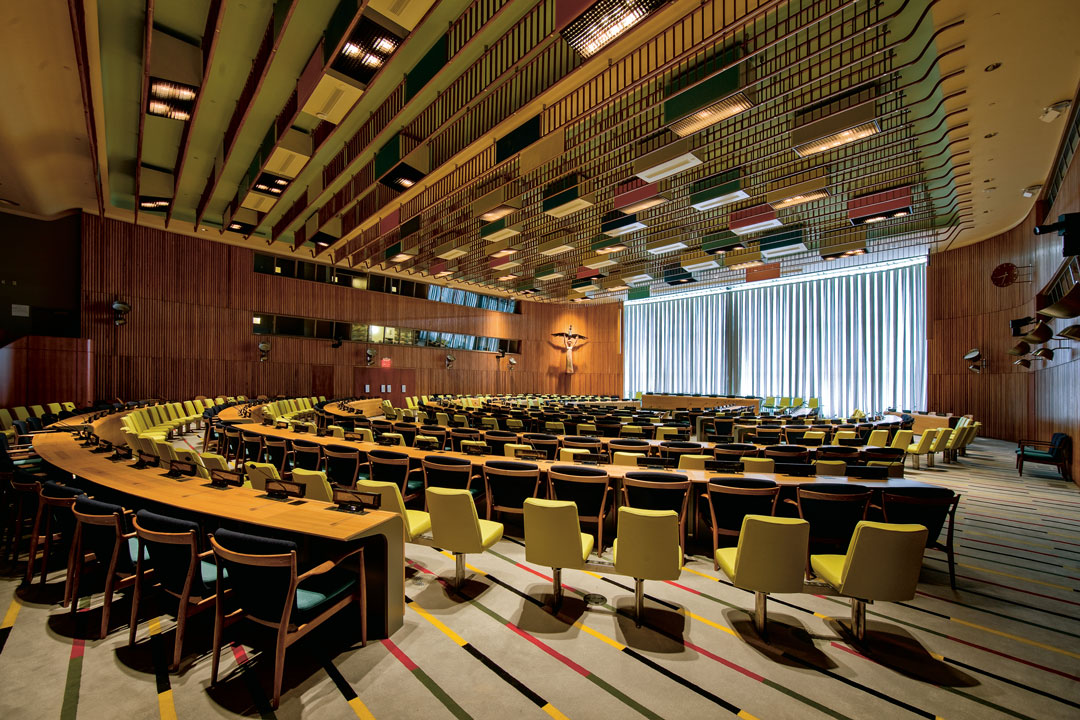The Trusteeship Council Chamber at the United Nations Headquarters in New York