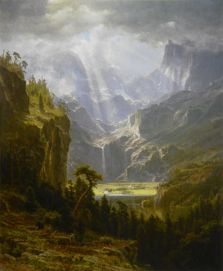 Albert Bierstadt, Rocky Mountains, 'Lander's Peak', 1863. As reproduced in Sun and Moon