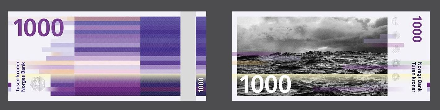 Snøhetta's 1000 Kroner note proposal