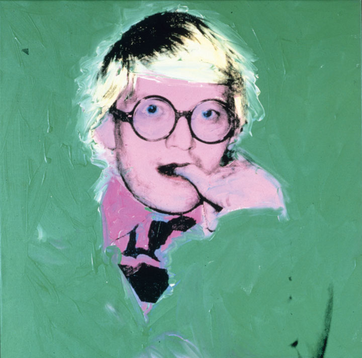 David Hockney (1974) by Andy Warhol. Private Collection, Courtesy Paul Kasmin Gallery, New York / © The Andy Warhol Foundation for the Visual Arts, Inc.