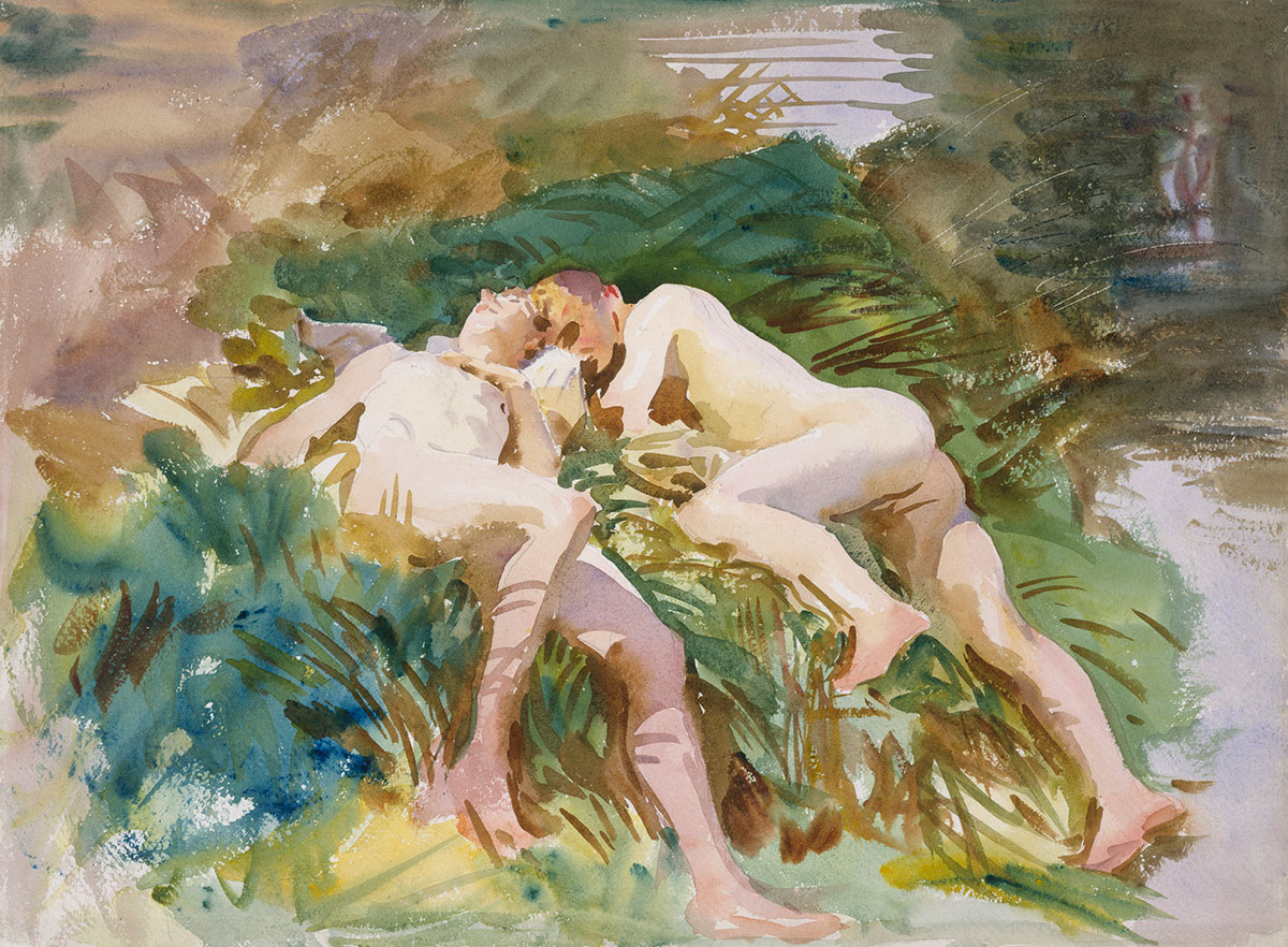 Tommies Bathing (1918) by John Singer Sargent as reproduced in The Art of the Erotic
